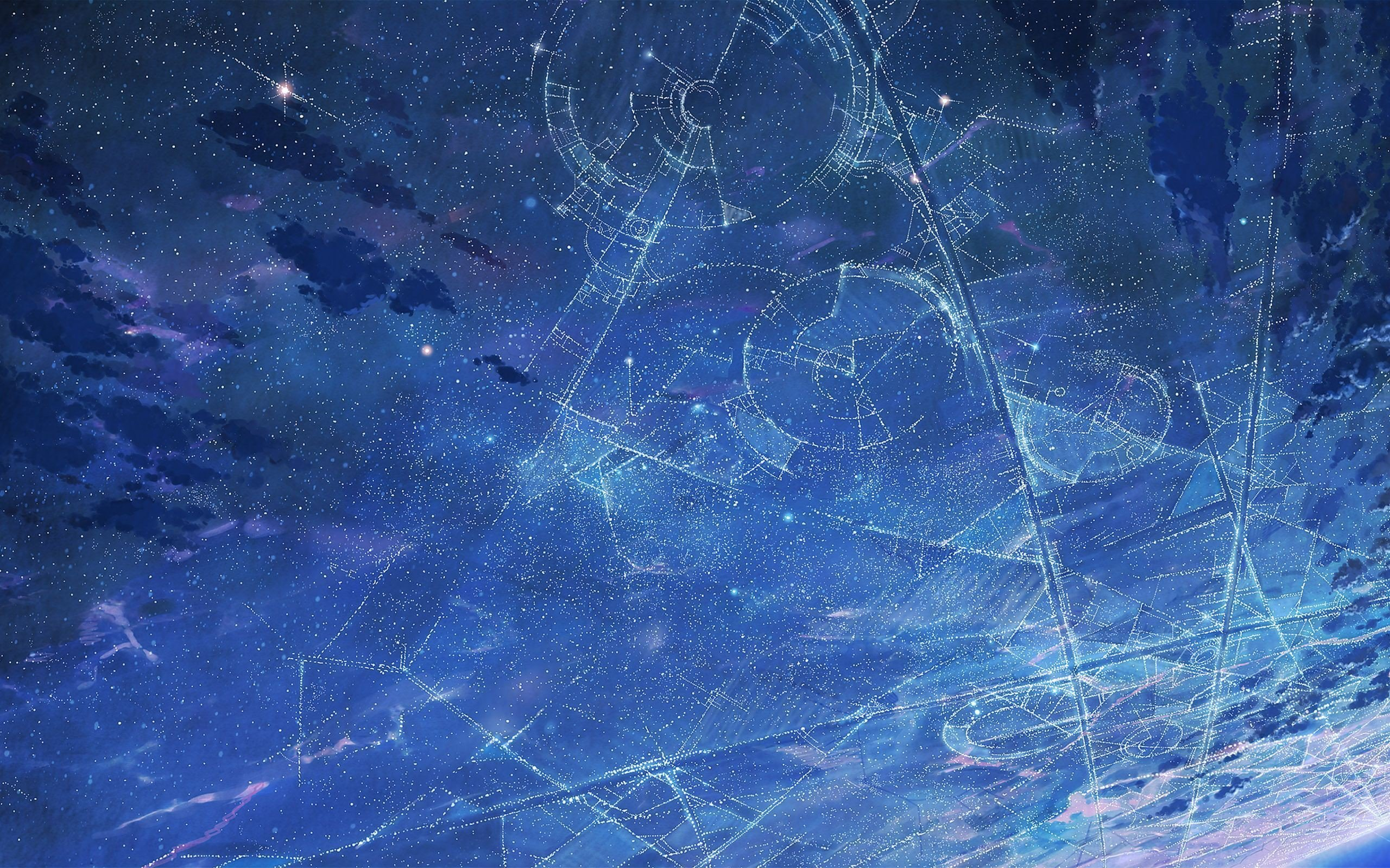Drawn Star Constellation Hd Wallpaper