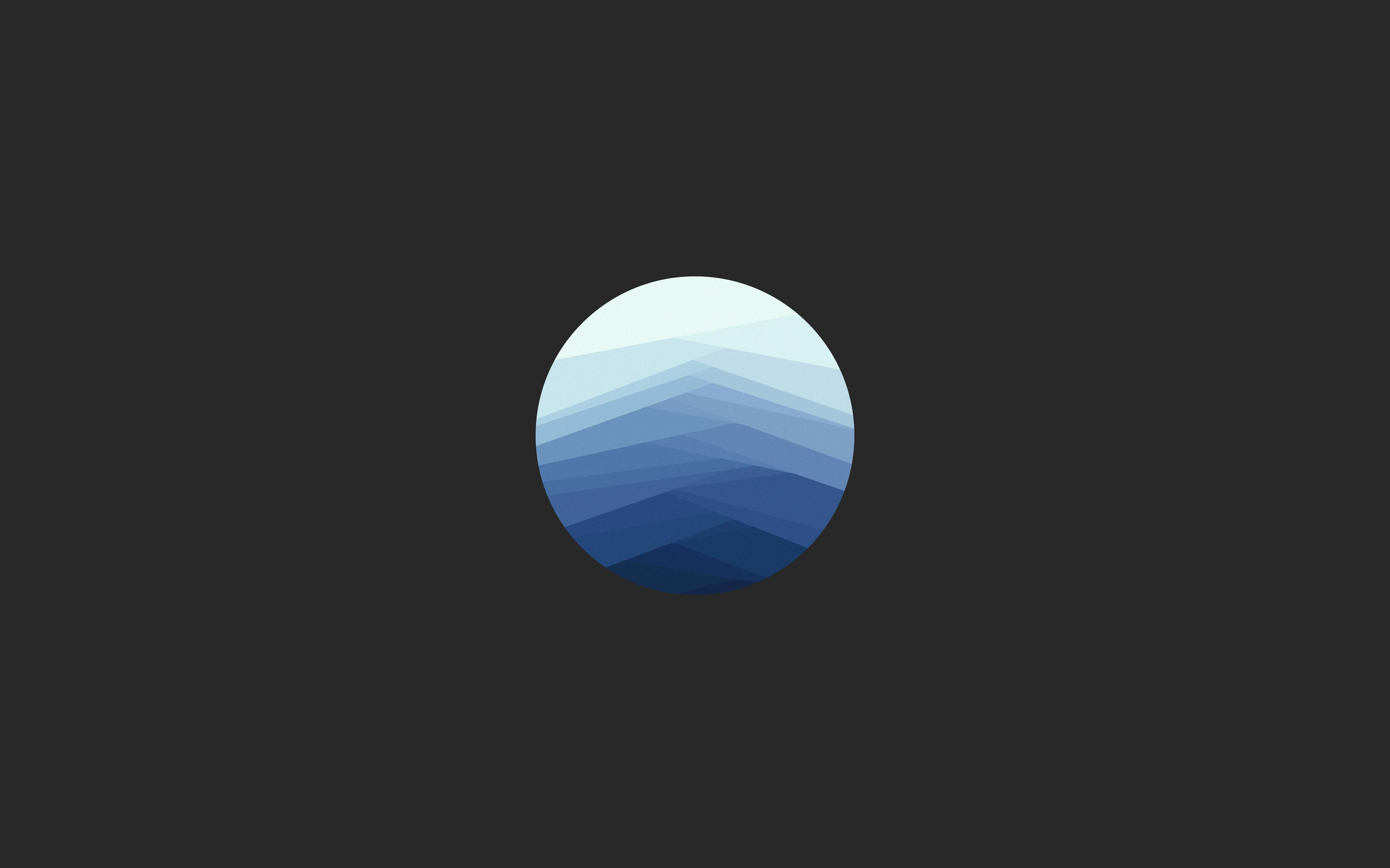 Minimal Blue Sphere 4k Wallpaper