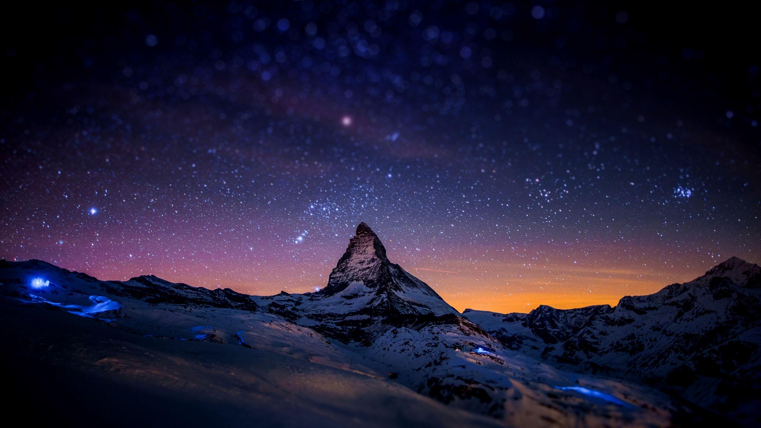 Beautiful Night Sky Hd Wallpaper