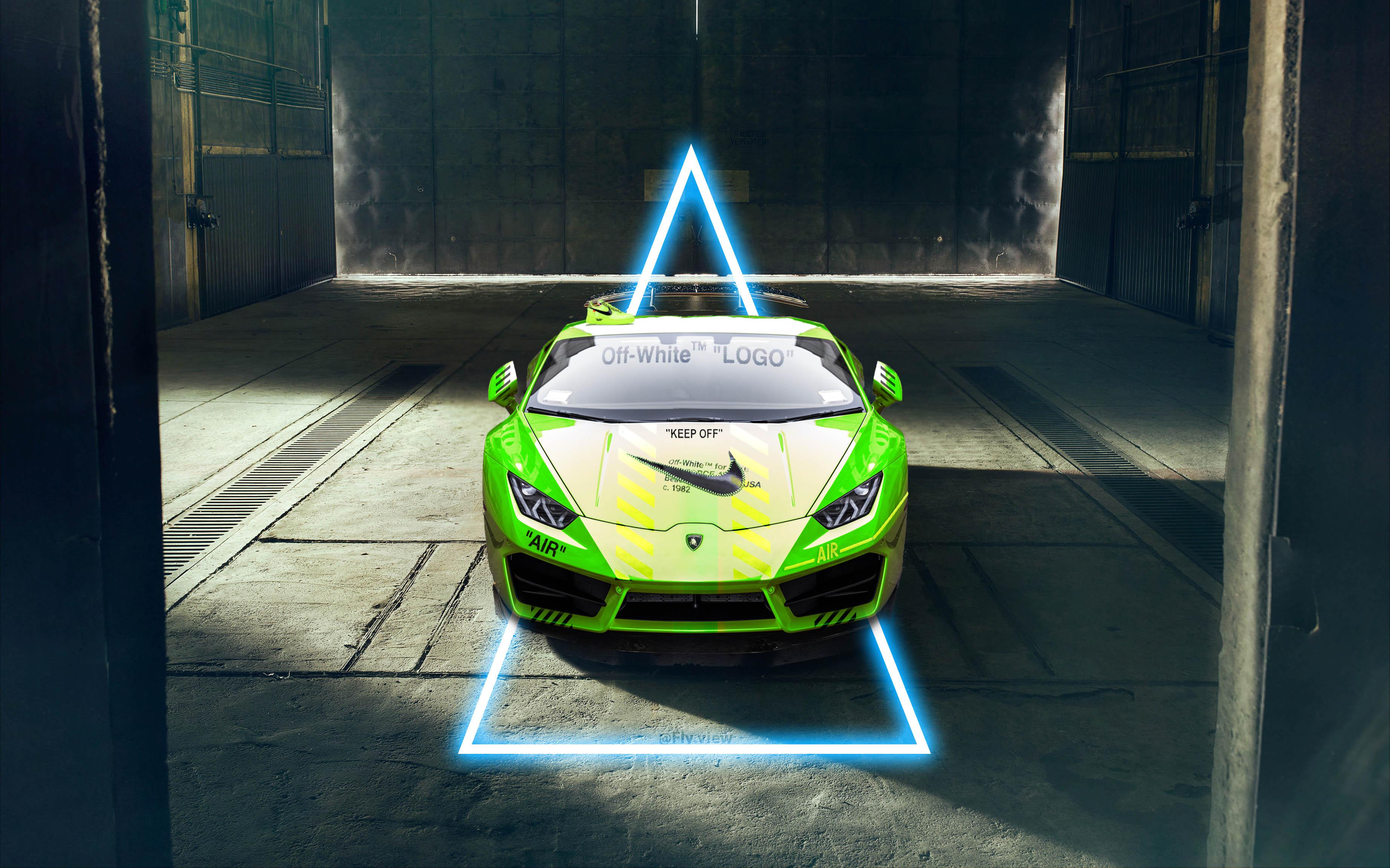 Lamborghini Nike X Off White Hypebeast Hd Wallpaper