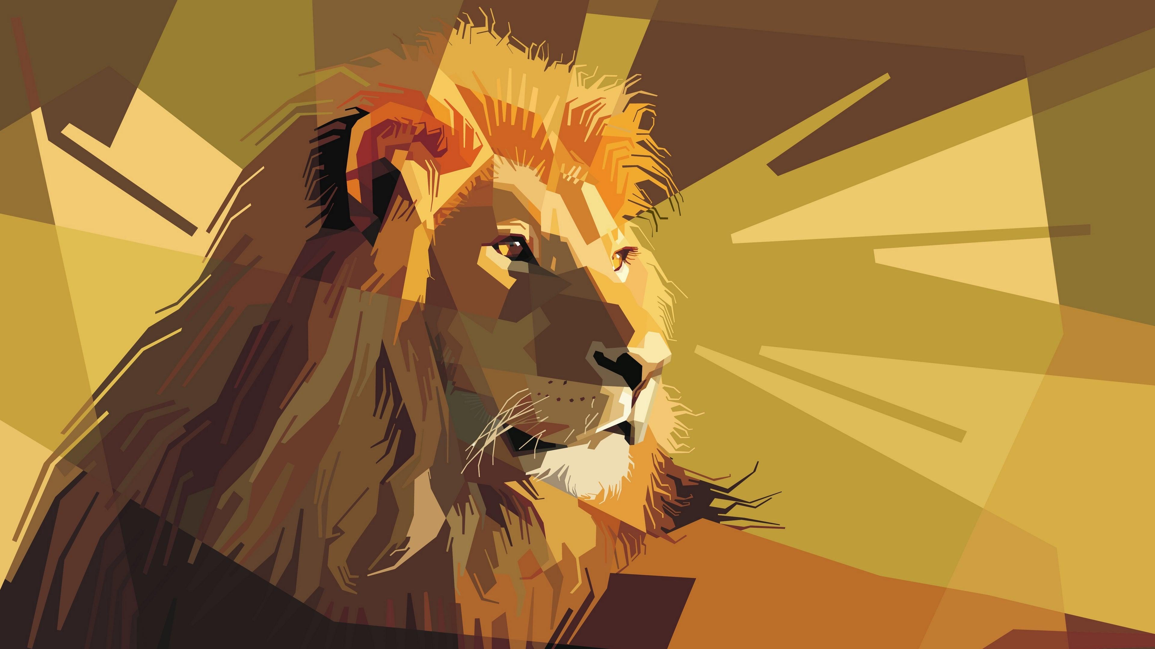 lion art vector wallpaper