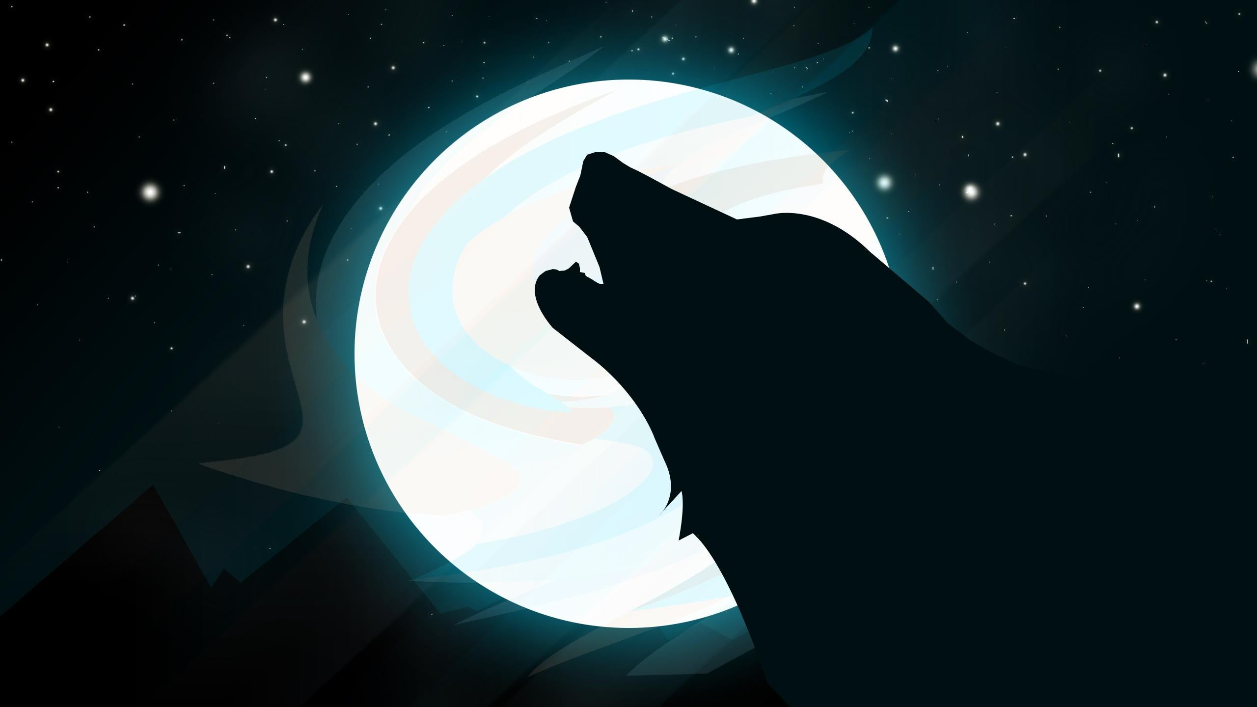 Wolf Moon Hd Wallpaper