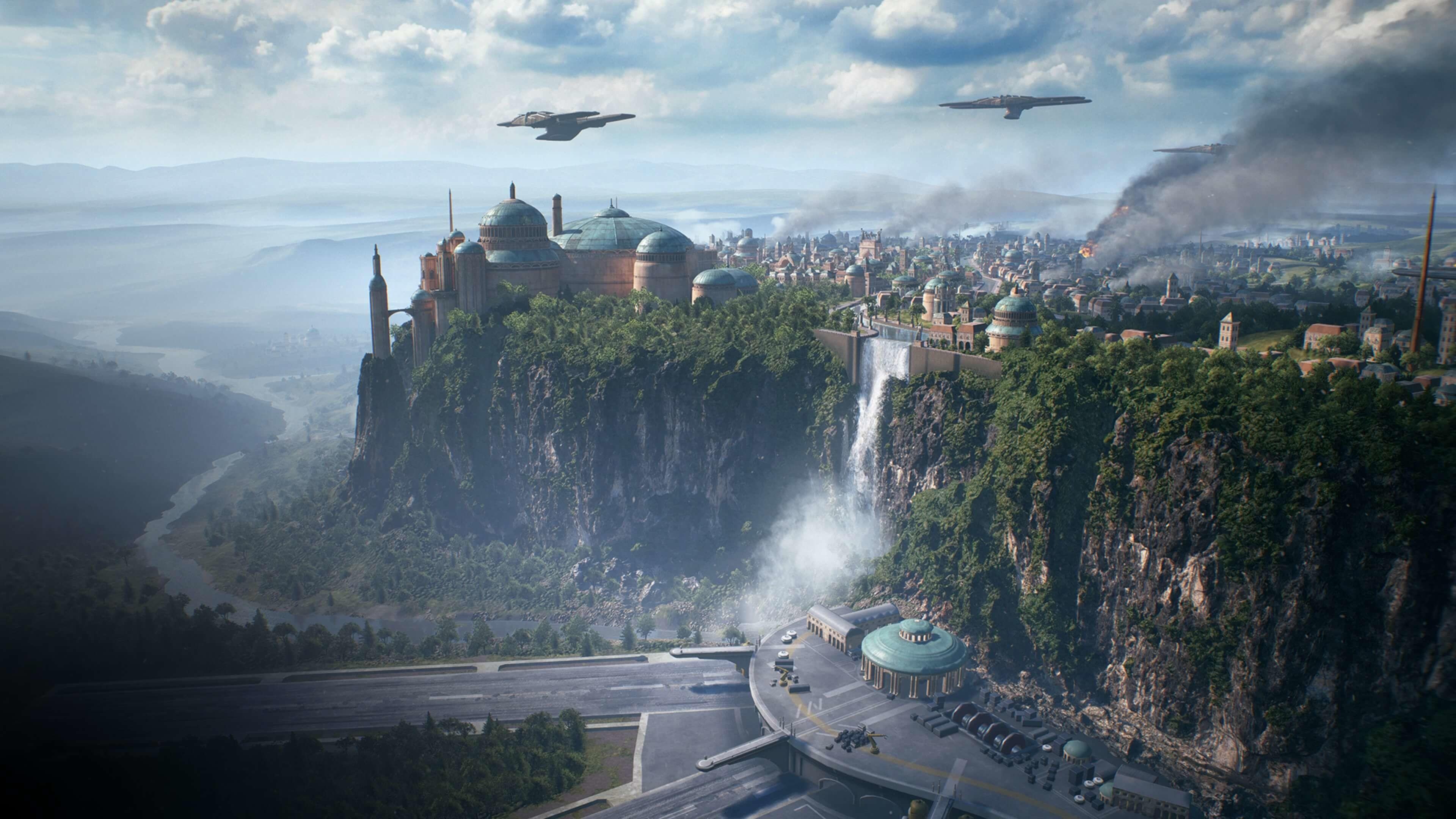 Uphill City 4K wallpaper