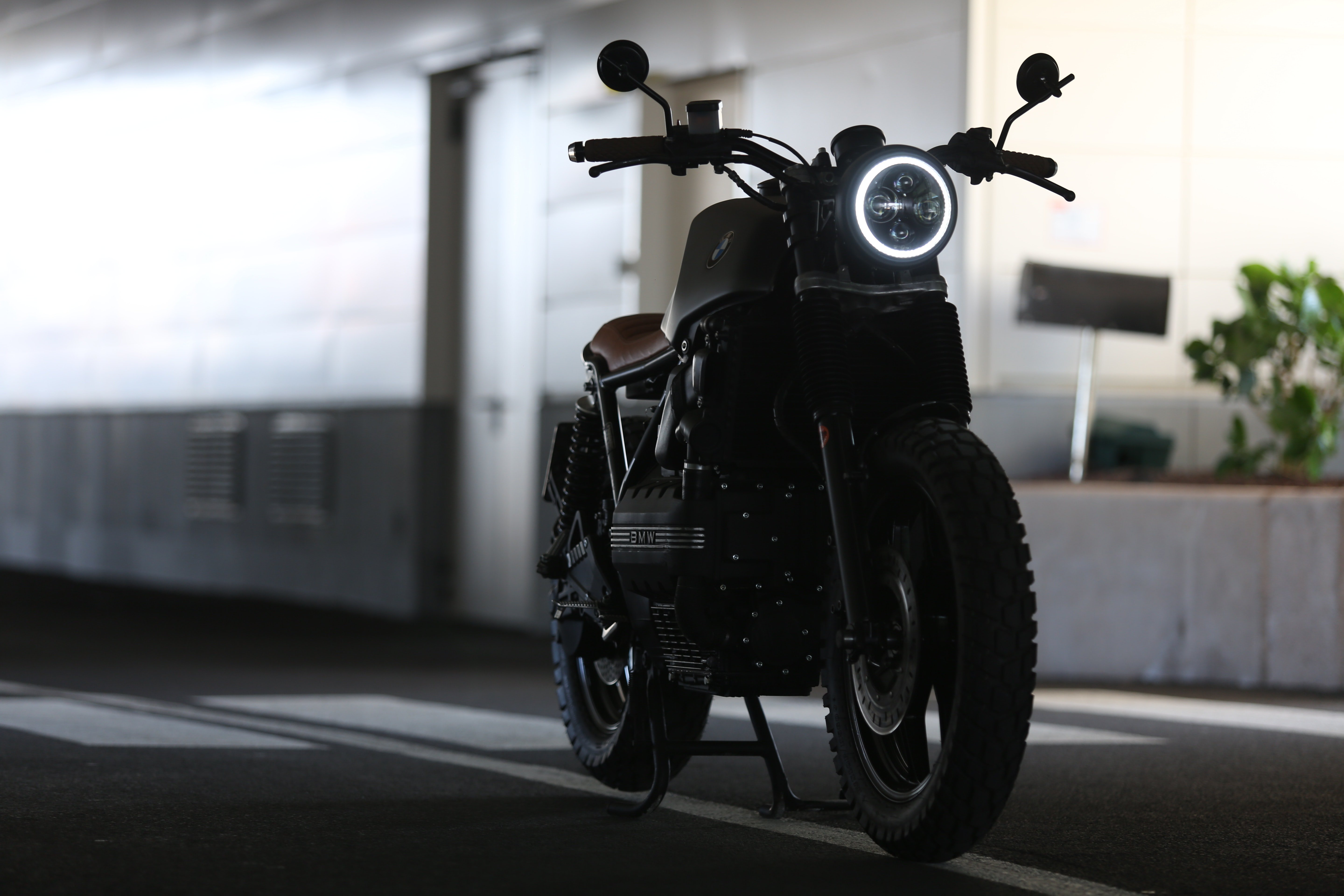 Close Up Photography Of Parked Motorcycle 4k Wallpaper