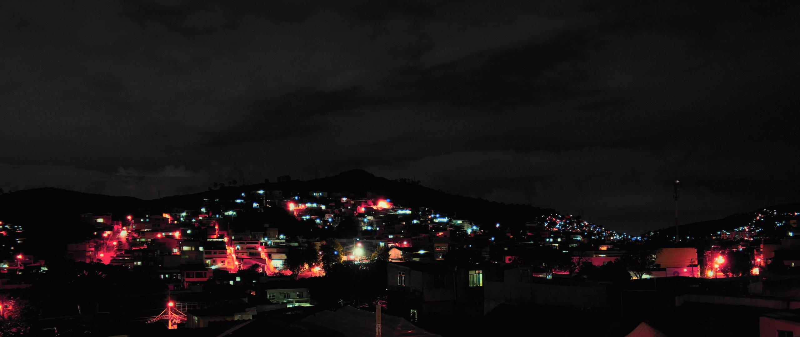 Late Night City Lights Hd Wallpaper