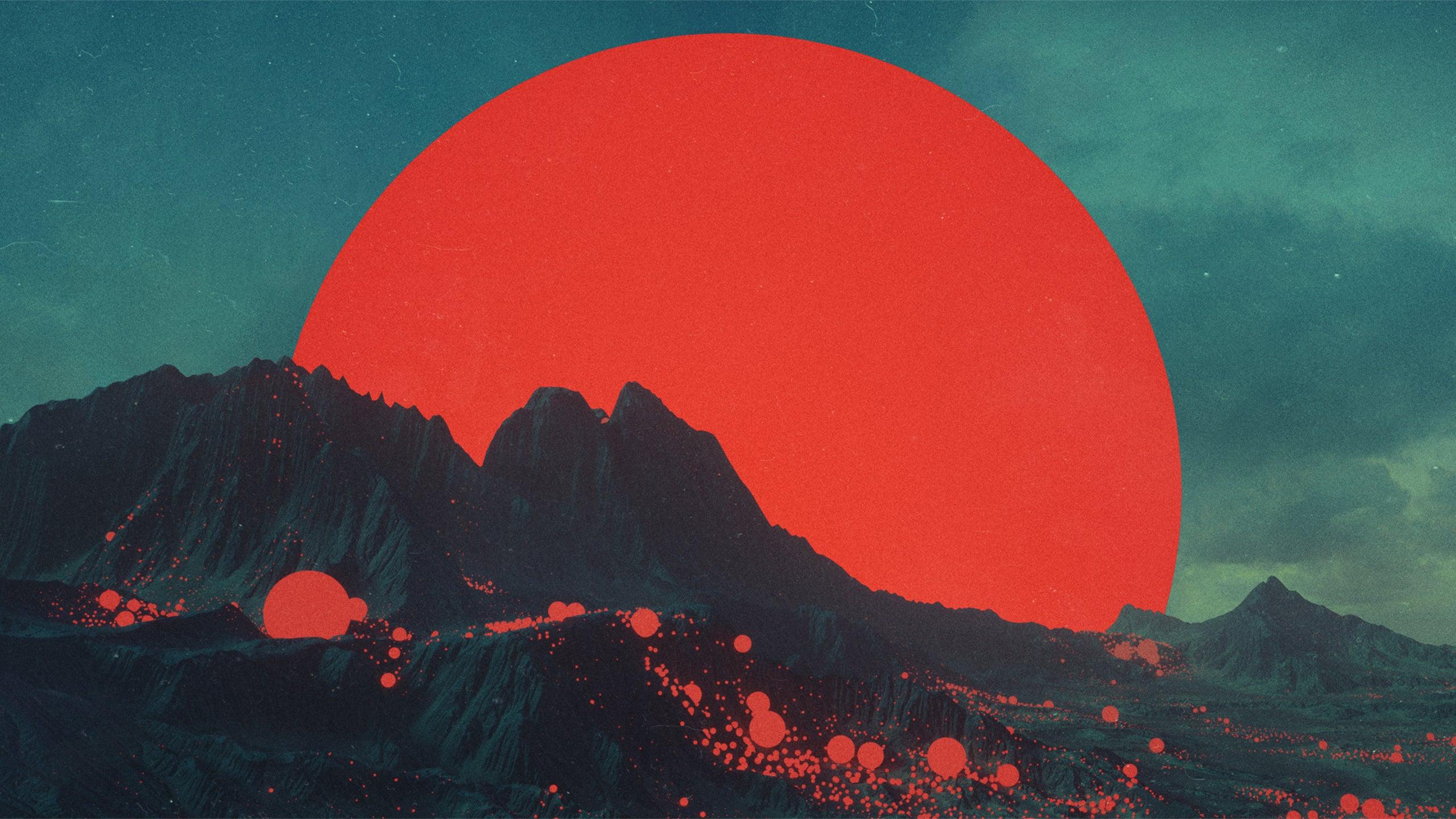 Red Moon HD wallpaper