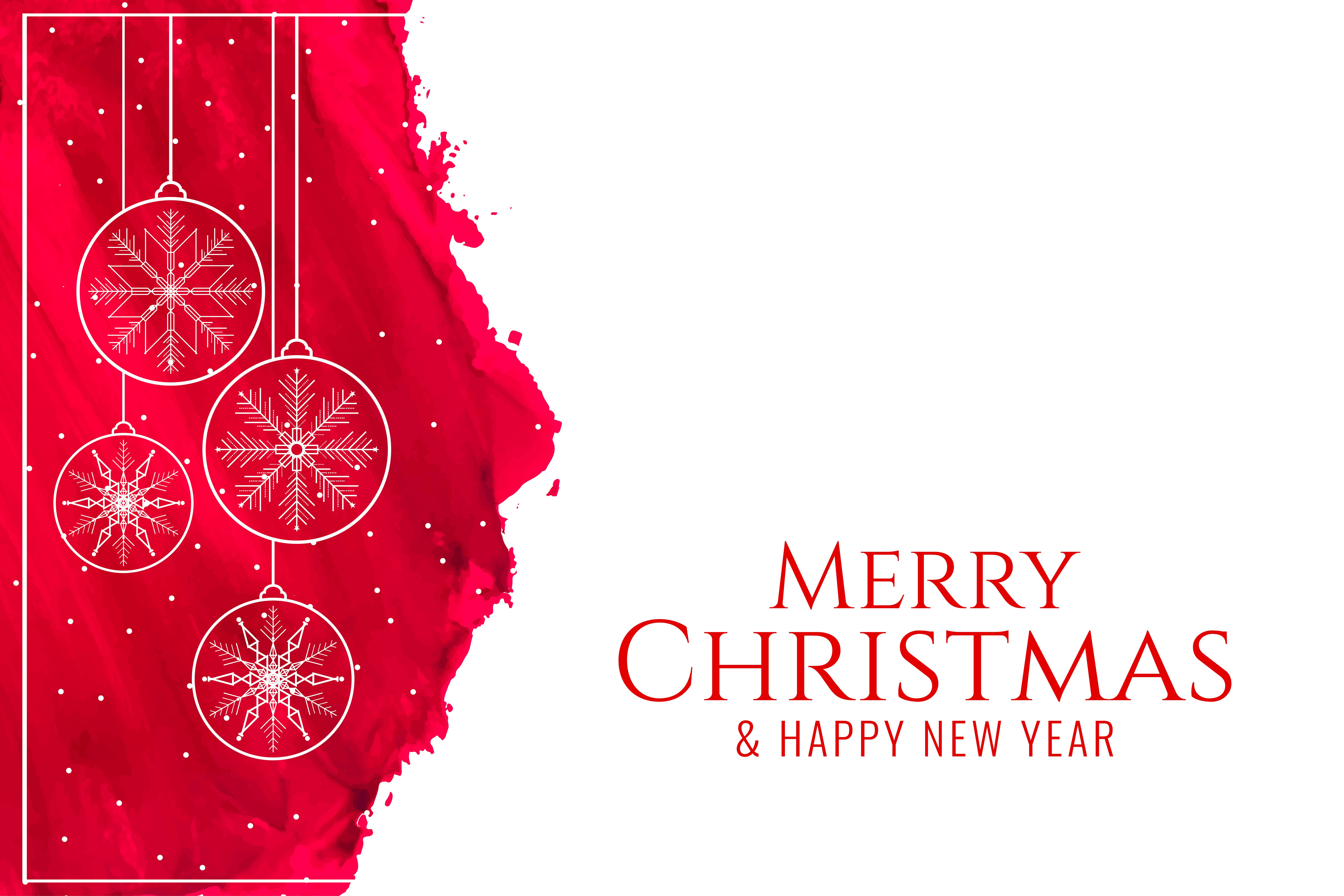 Merry Christmas and Happy New Year 2020 4K wallpaper