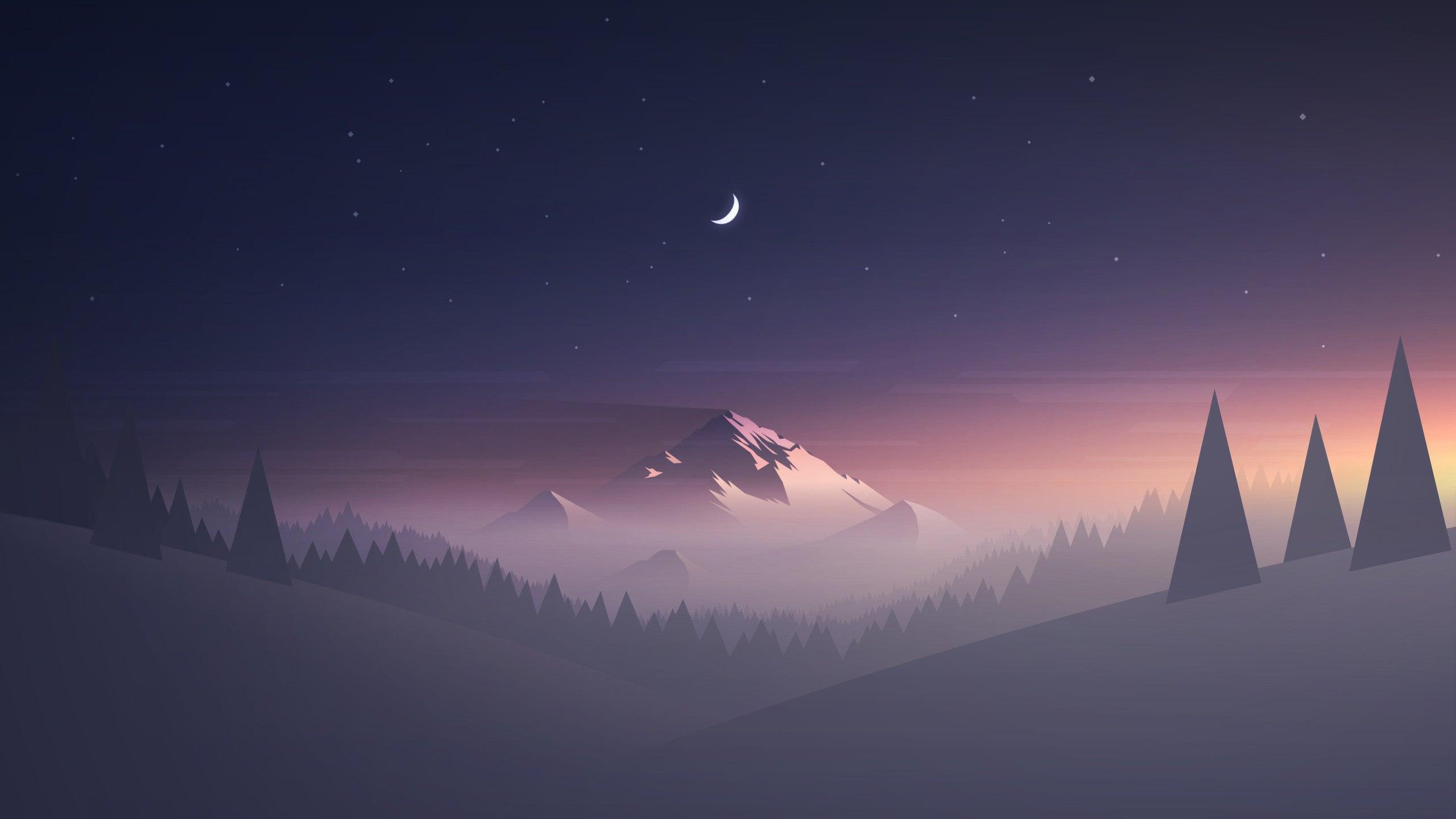 Minimal Landscape Hd Wallpaper