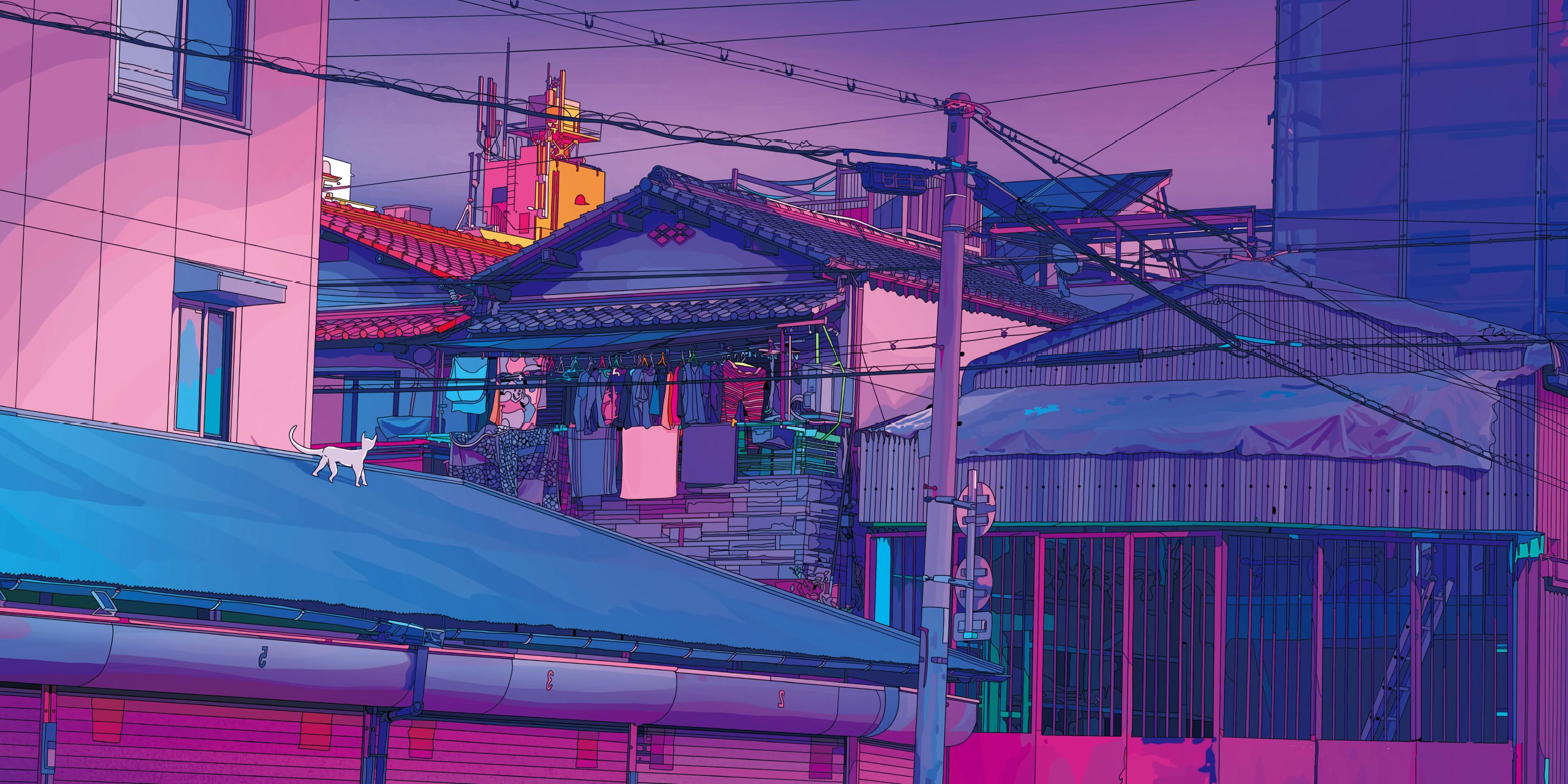 Aesthetic Tokyo 4K wallpaper