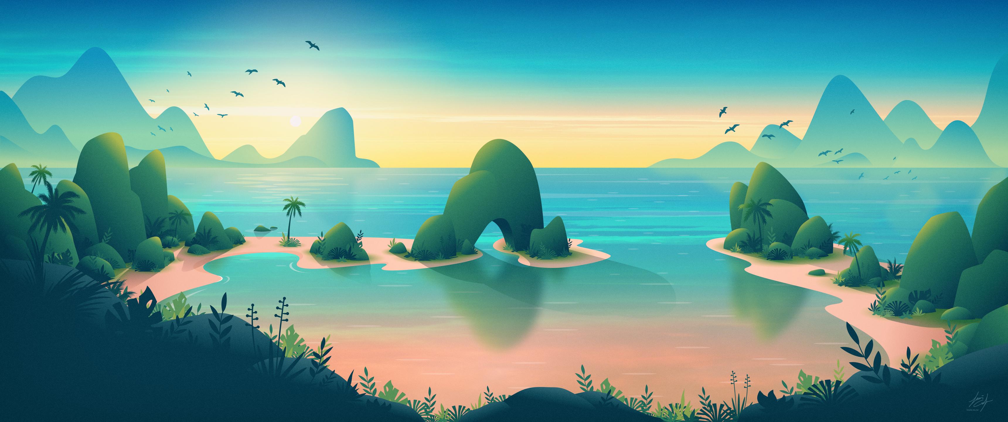 Tropical Escape Hd Wallpaper