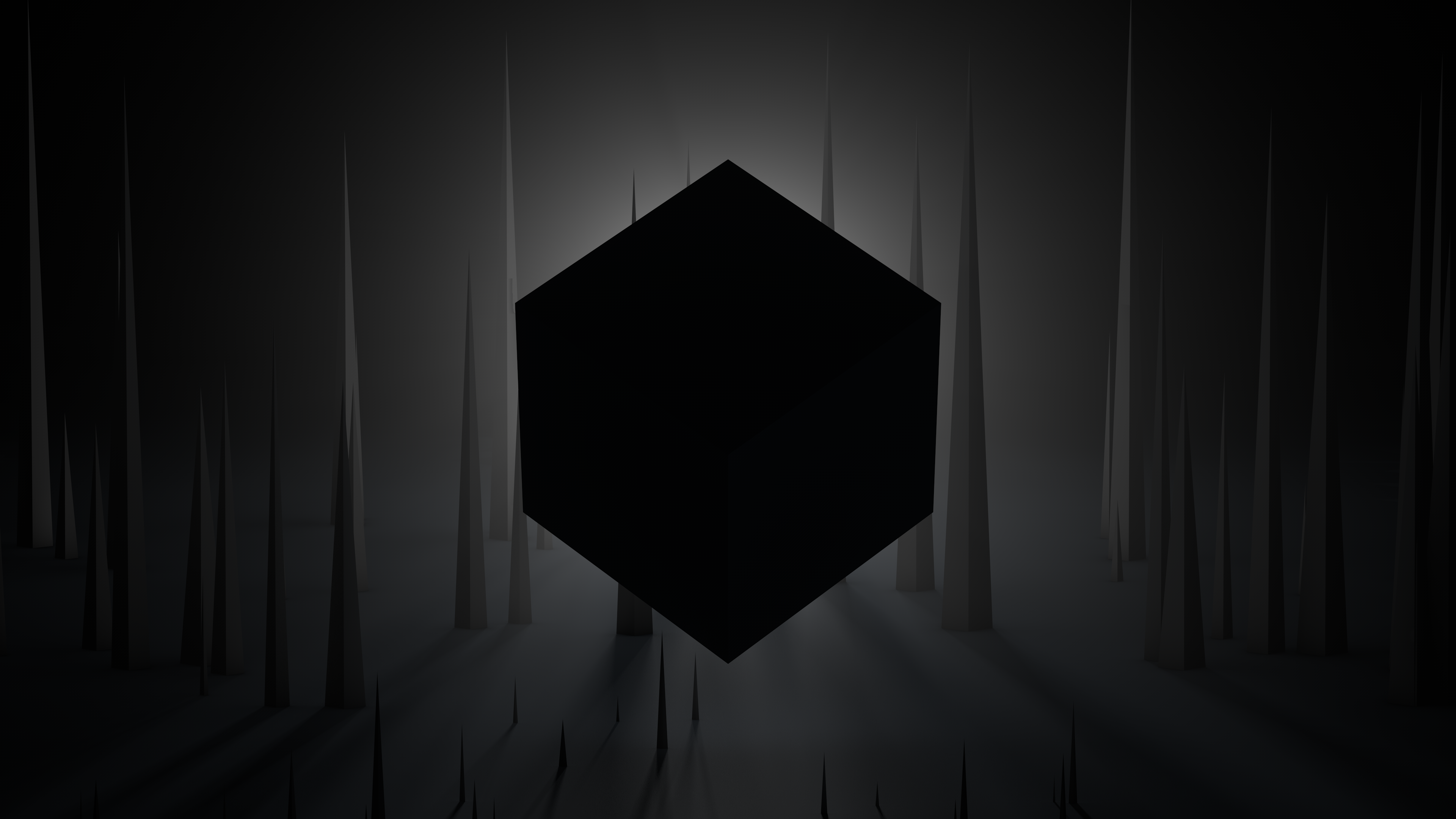 Dark Cube 4k Wallpaper