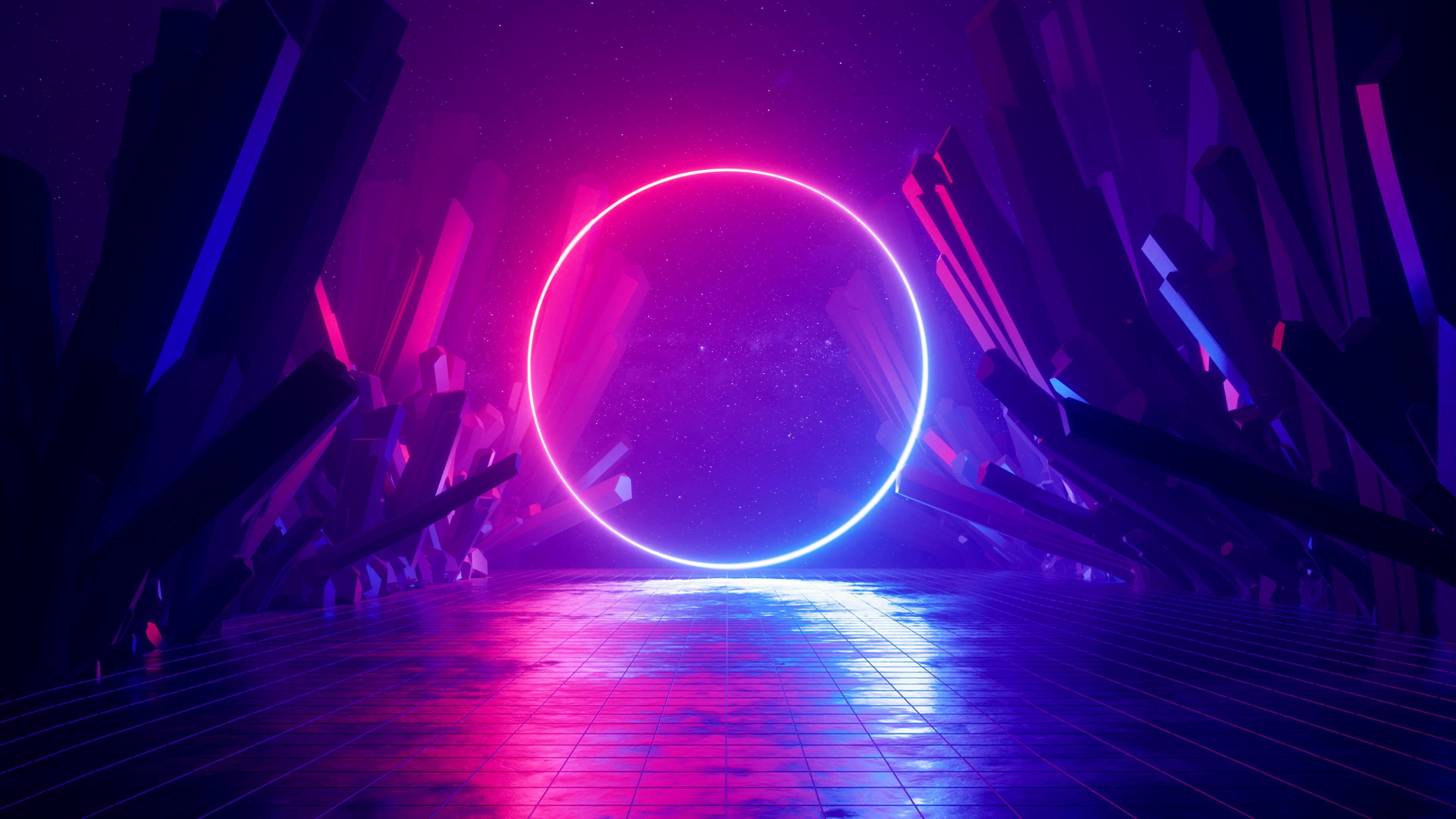 neon ring wallpaper