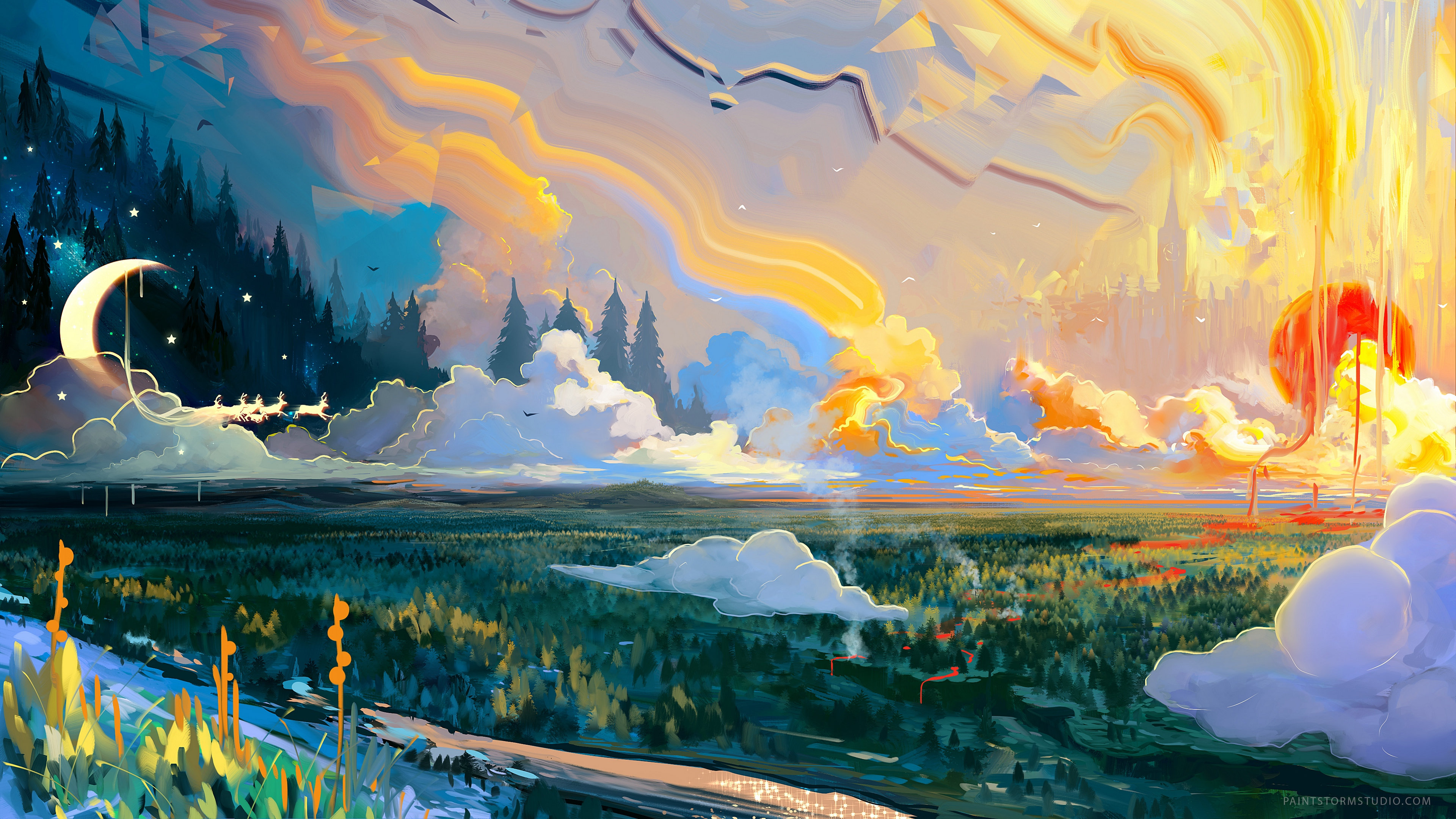 Landscape Art 4k Wallpaper