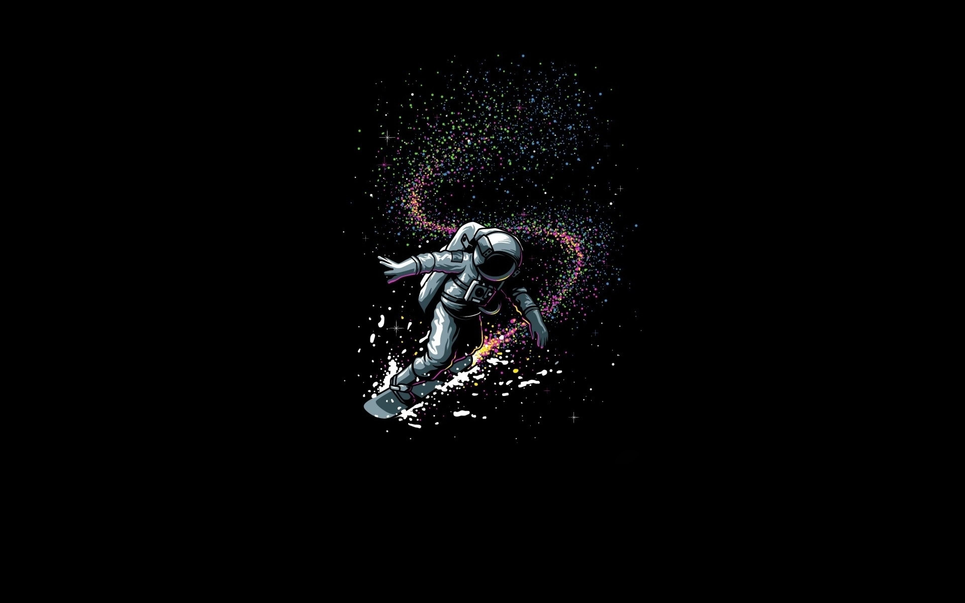 surfing astronaut wallpaper