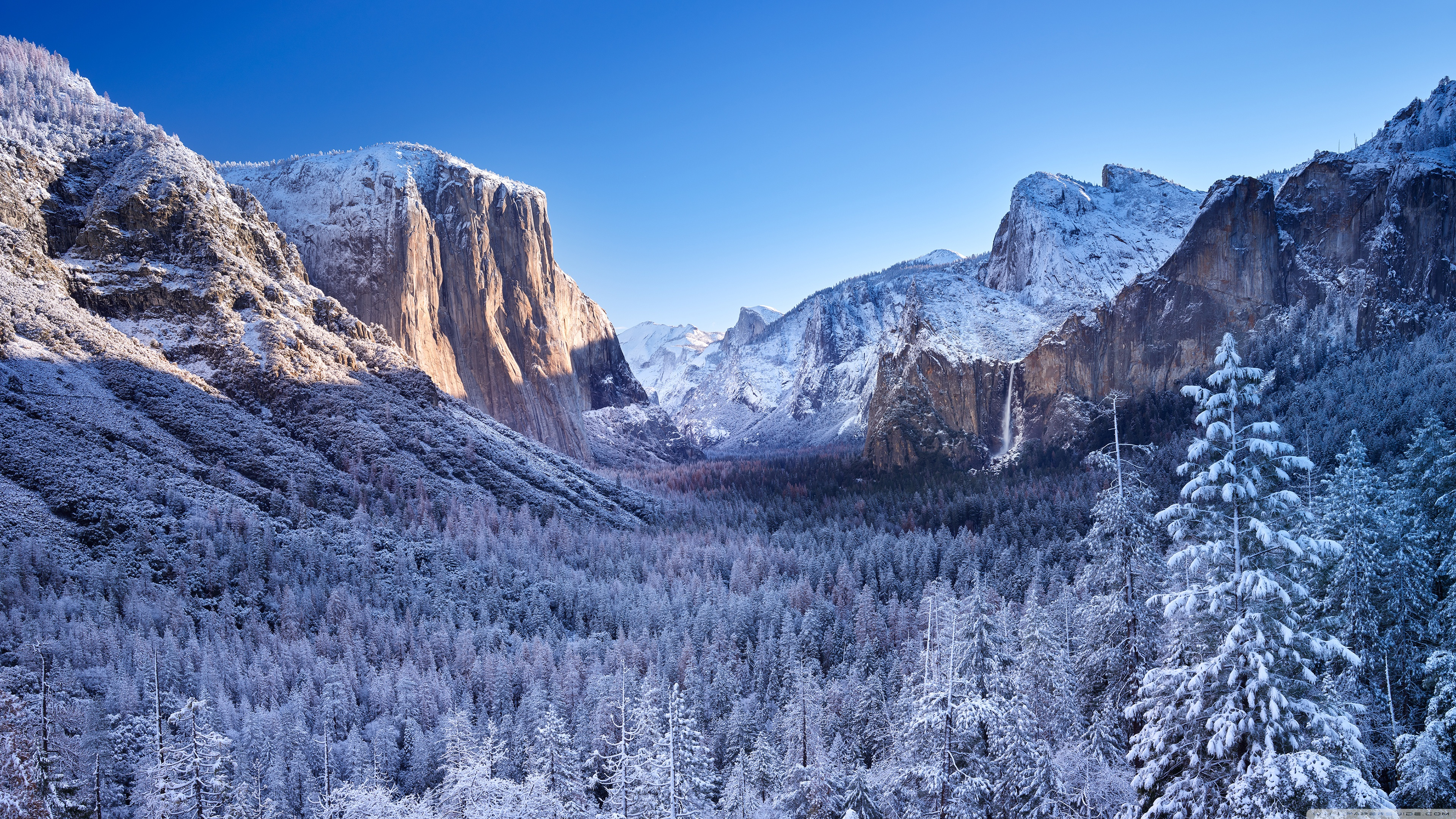 yosemite in winter wallpaper