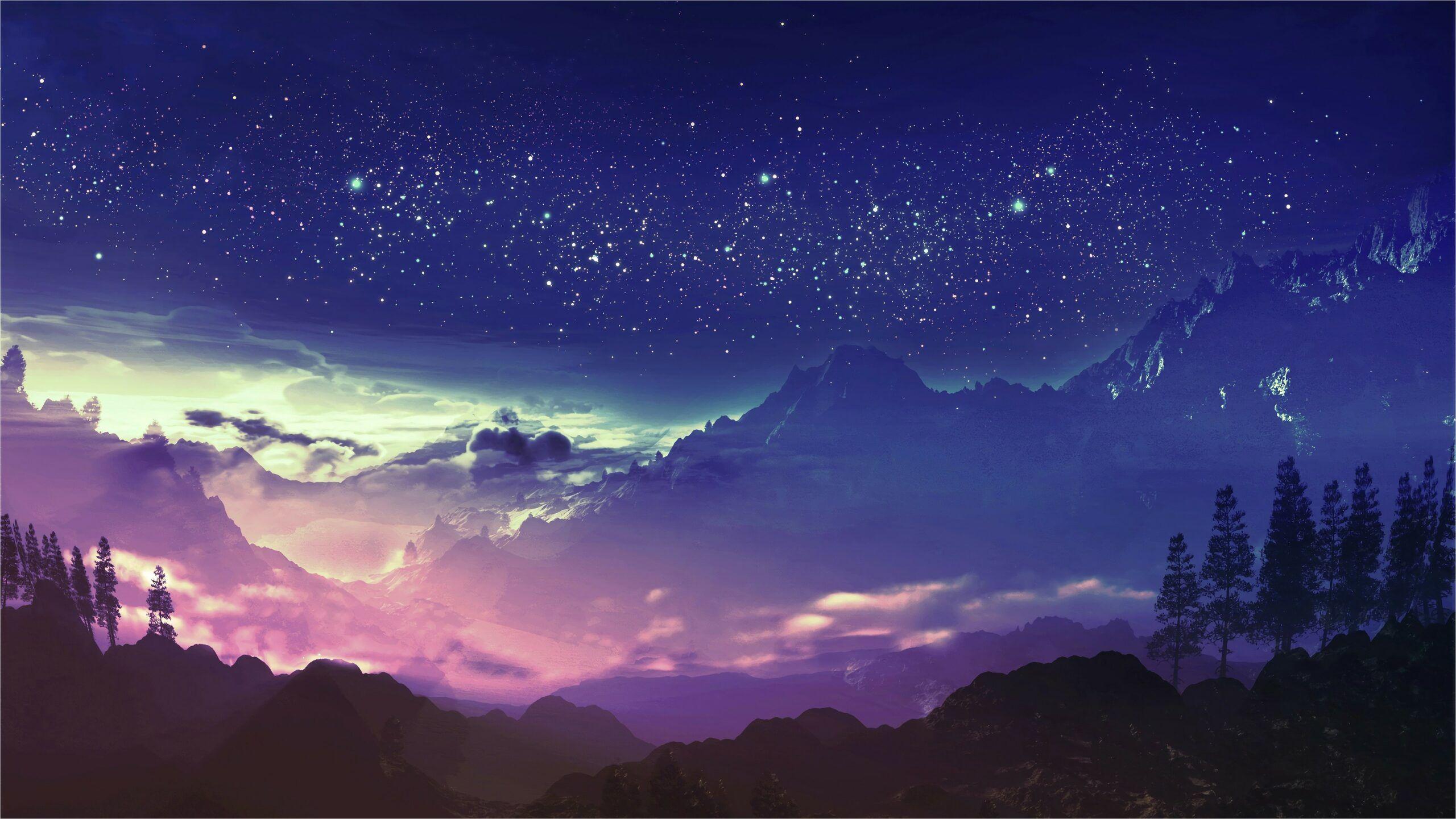mountain galaxy wallpaper