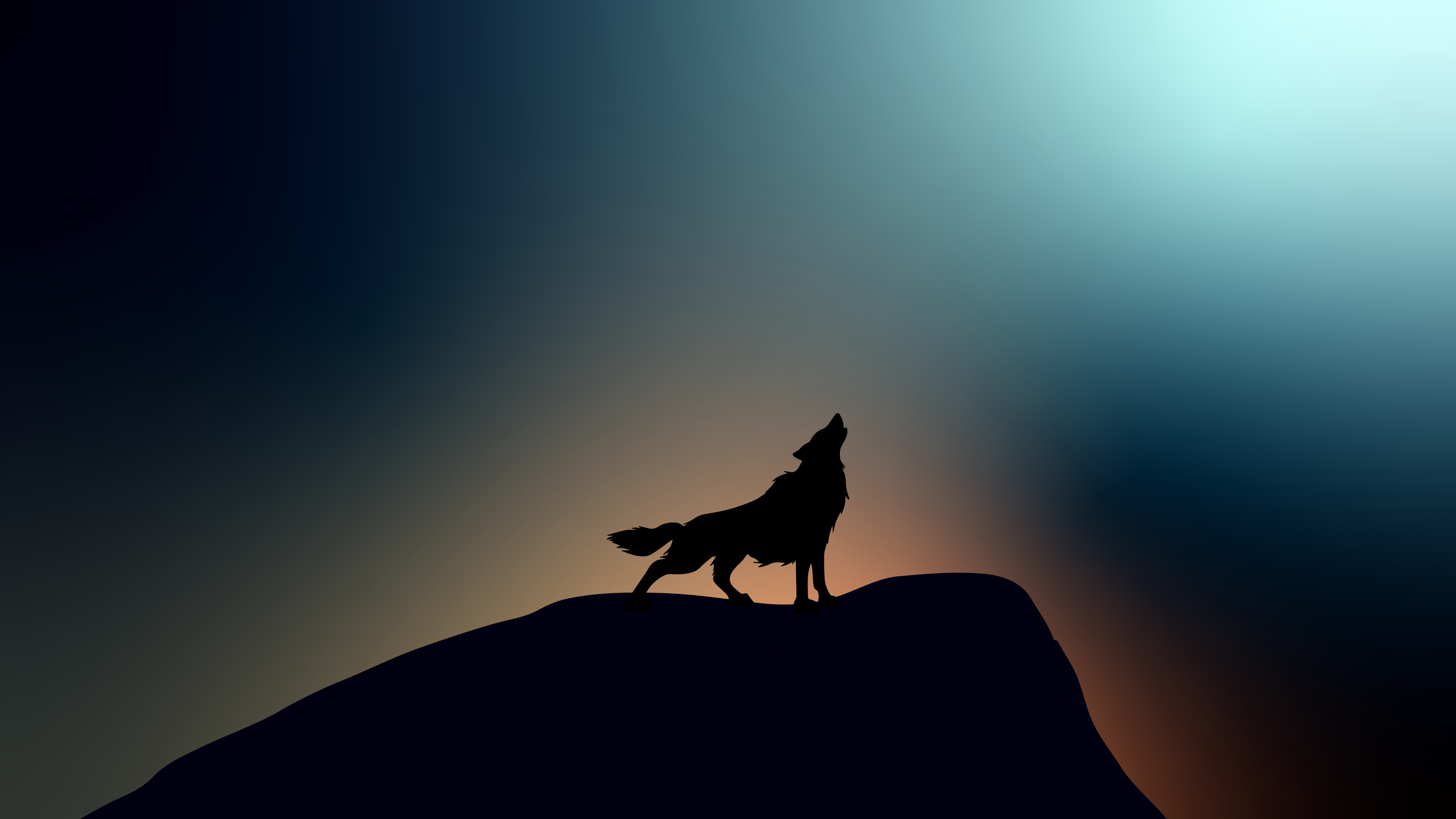 wolf howling k wallpaper