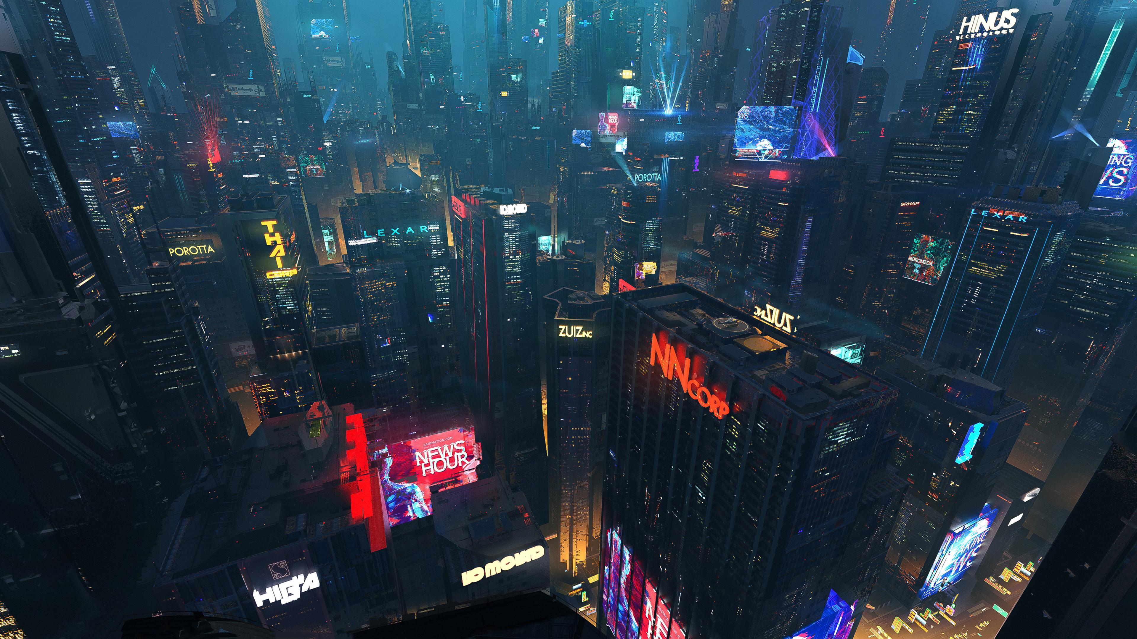 Cyber City 4K wallpaper