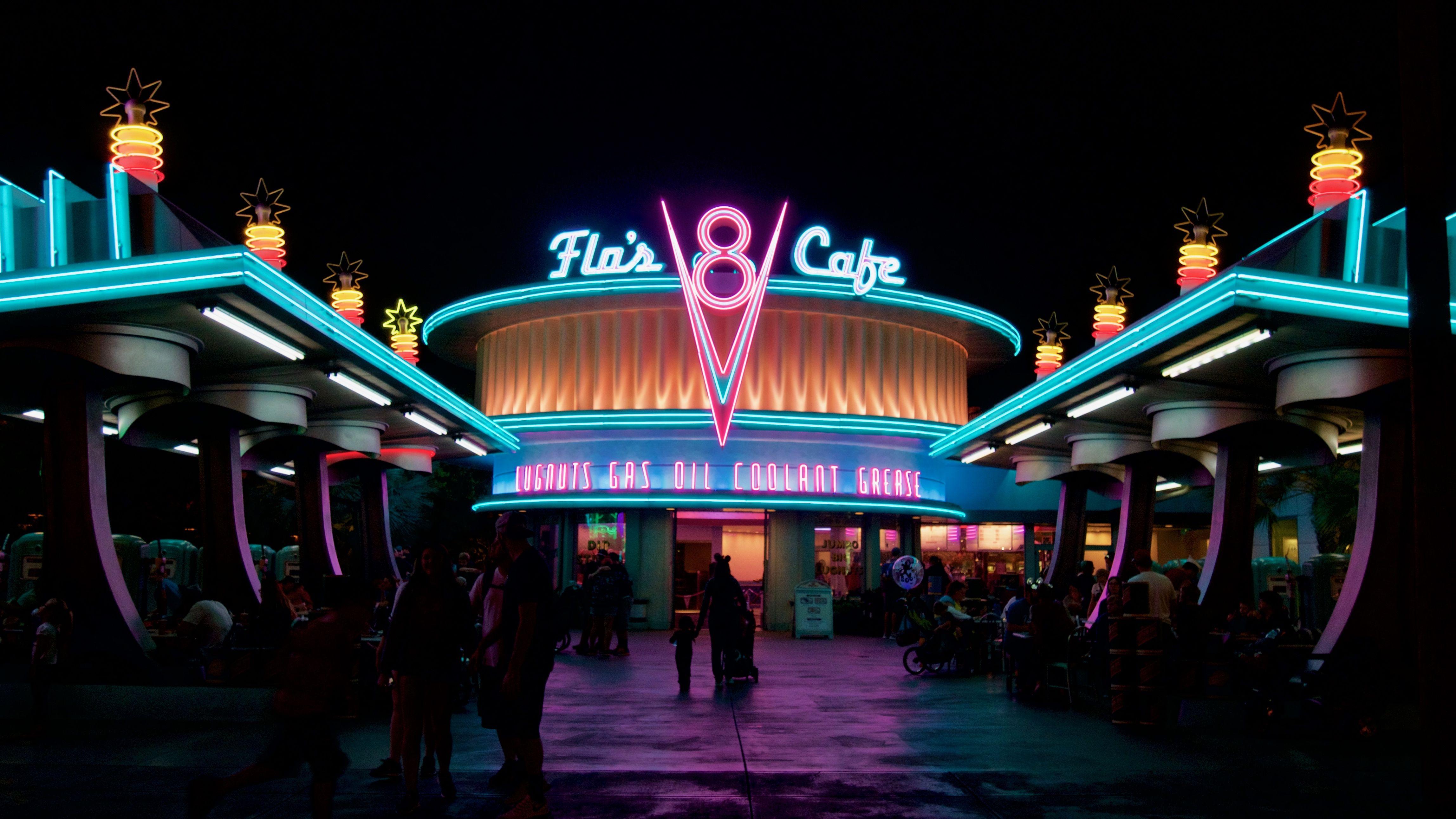 neon flair cafe wallpaper