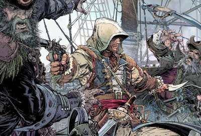 AC Black Flag Comic Stylized wallpaper