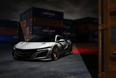 Acura NSX HRE Wheels 4K wallpaper