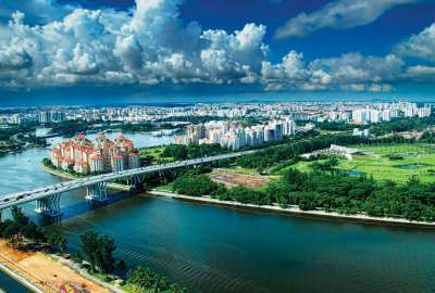 Aerial View of SINGAPORE wallpaper