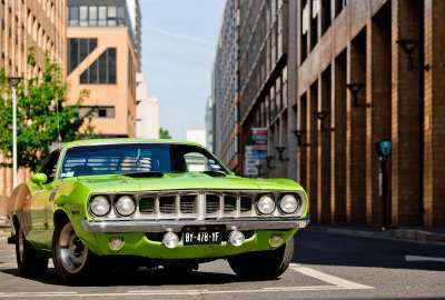 Awesome Green Muscle Car wallpaper