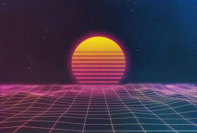 Awesome Sunset Retro Wave wallpaper