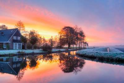 Beautiful Frosty Sunrise wallpaper