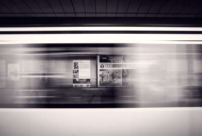 Black and white Lights Metro People Posters Speed Strokes Transports Underground wallpaper