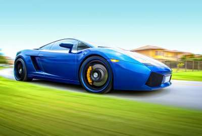 Blue Lamborghini 2902 wallpaper