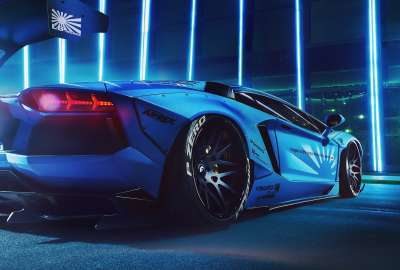 Blue Modified Lamborghini wallpaper