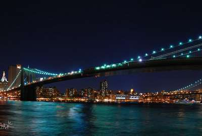 Brooklyn Bridge Harvest Moon New York wallpaper