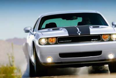 Challenger Car With Lights on wallpaper