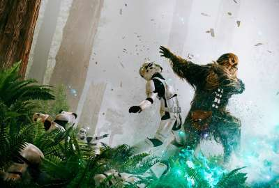 Chewbacca Stormtroopers wallpaper