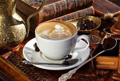 Coffee and Books wallpaper