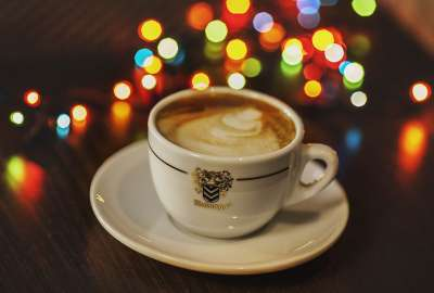 Coffee Cup With Lights wallpaper