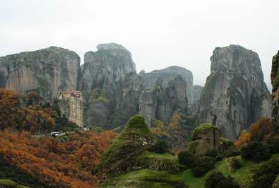 Cold Morning Over Meteora Greece wallpaper