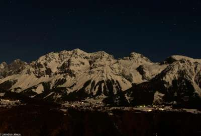Dachstein at Night by My Father wallpaper
