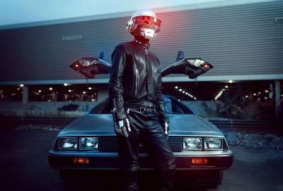 Daft Punk in Front of a DeLorean wallpaper