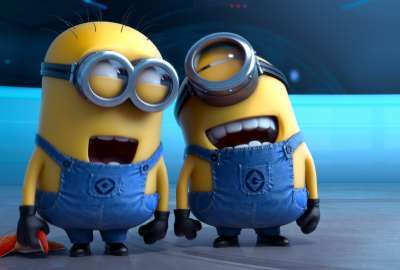 Despicable Me 2 Laughing Minions wallpaper