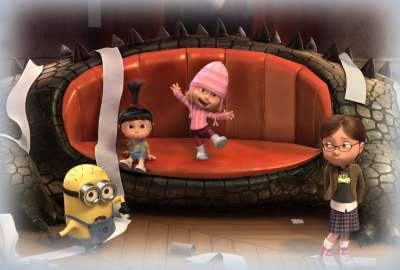 Despicable Me Agnes And Minions wallpaper
