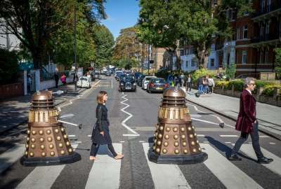 Doctor Who Meets Abbey Road wallpaper