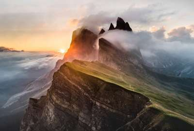 Dolomites Mountain Range wallpaper