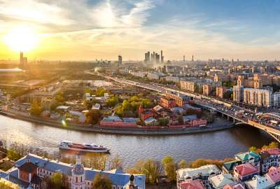 Downtown Moscow Russia Panorama wallpaper