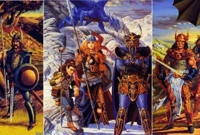 DragonLance Chronicles Trilogy Covers - TSR - Larry Elmore wallpaper