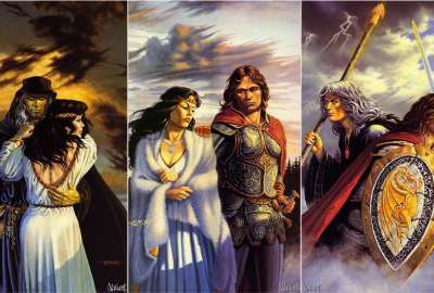 Dragonlance Legends Trilogy Covers - Larry Elmore wallpaper