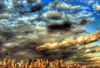 Dramatic NYC Skyline wallpaper