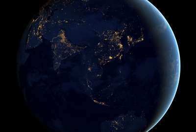 Earth Seen From Space Round wallpaper