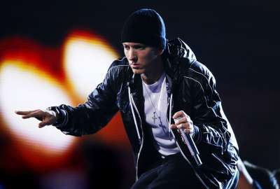 Eminem on Stage Performing wallpaper